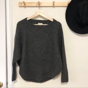 Lou & Grey dark gray knit sweater XS oversized
